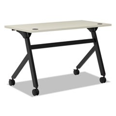 Multipurpose Table Flip Base Table, 48w x 24d x 29 3/8h, Light Gray