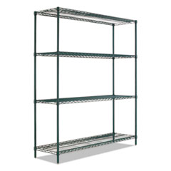 "BA Plus Wire Shelving Kit, 4 Shelves, 72"" x 24"" x 72"", Black Anthracite+"