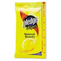 PLEDGE LEMON WIPES 12/CS