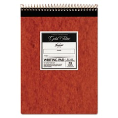 Gold Fibre Retro Wirebound Writing Pads, 1 Subject, Wide/Legal Rule, Red Cover, 8.5 x 11.75, 70 Sheets