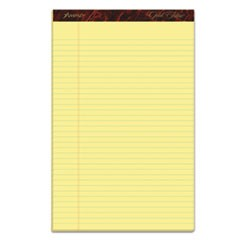 Gold Fibre Writing Pads, Wide/Legal Rule, 8.5 x 14, Canary, 50 Sheets, Dozen