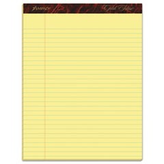 Gold Fibre Writing Pads, Wide/Legal Rule, 8.5 x 11.75, Canary, 50 Sheets, Dozen