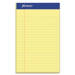 Perforated Writing Pads, Narrow Rule, 5 x 8, Canary, 50 Sheets, Dozen