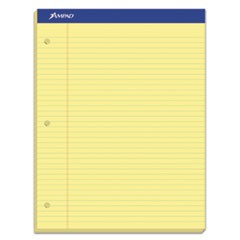 Double Sheet Pads, Medium/College Rule, 8.5 x 11.75, Canary, 100 Sheets