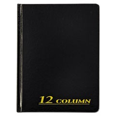 Account Book, 12 Column, Black Cover, 80 Pages, 7 x 9 1/4