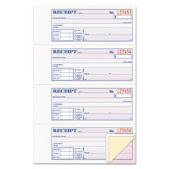 Adams Receipt Book, 7 5/8 X 11, Three-Part Carbonless, 100 Forms