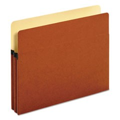 Standard Expanding File Pockets, Manila, Straight Cut, Letter, Red, 25/Box