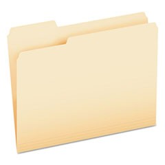 CutLess File Folders, 1/3-Cut Tabs, Letter Size, Manila, 100/Box