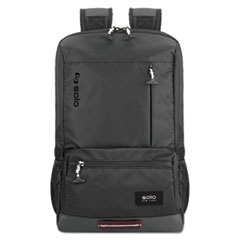 "Draft Backpack, 6.25"" x 18.12"" x 18.12"", Nylon, Black"