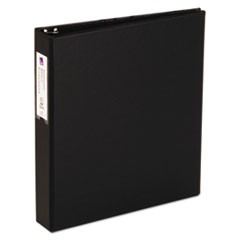 "Economy Non-View Binder with Round Rings, 11 x 8 1/2, 1 1/2"" Capacity, Black"