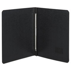 "Presstex Report Cover, Side Bound, Prong Clip, Letter, 3"" Cap, Black"