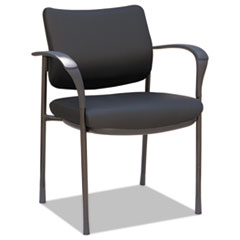 Alera IV Series Guest Chairs, 24.80'' x 22.83'' x 32.28'', Black Seat/Black Back, Black Base, 2/Carton