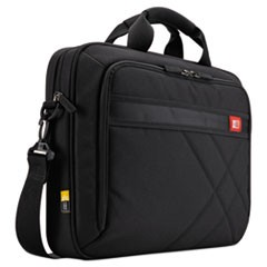 "Diamond 15.6"" Briefcase, 16.1"" x 3.1"" x 11.4"", Black"