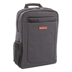 "Cadence Slim Business Backpack, Holds Laptops 15.6"", 4.5"" x 4.5"" x 17"", Charcoal"
