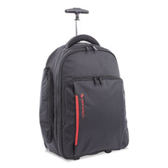 "Stride Business Backpack On Wheels, For Laptops 15.6"", 10"" x 10"" x 21.5"", Black"
