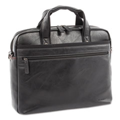 "Valais Executive Briefcase, Holds Laptops 15.6"", 4.75"" x 4.75"" x 11.5"", Black"