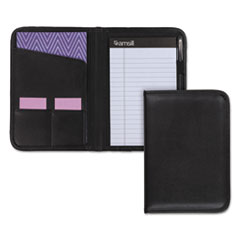Professional Padfolio, 3/4w x 9 1/4h, Open Style, Black