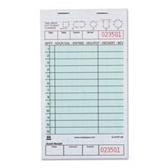 "Guest Check Book, Two-Part Carbonless, 4 1/5"" x 7 3/4"", 1/Pages, 2000 Forms"