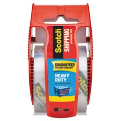 "3850 Heavy-Duty Packaging Tape with Dispenser, 1.5"" Core, 1.88"" x 66.66 ft, Clear"