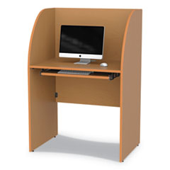Study Carrell, 23.5w x 33d x 48.25h, Maple