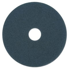 "Scrubbing Floor Pads, 14"" Diameter, Blue, 5/Carton"
