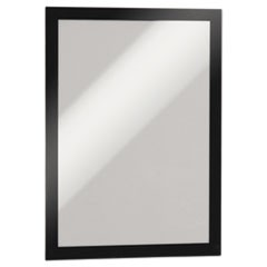 DURAFRAME Sign Holder, 8 1/2 x 11, Black Frame, 2 per Pack