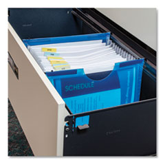 "Expanding File with Hanging Tabs, 1"" Expansion, 13 Sections, Letter, Blue"