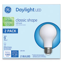 LED Classic Daylight A21 Light Bulb, 10 W, 2/Pack