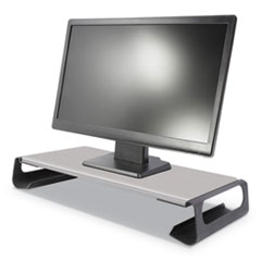 Contemporary Monitor Riser, 26.875w x 10d x 3.5h, Black/Gray