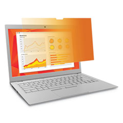 "Frameless Gold  Privacy Filter, For 14"", Widescreen, Laptop, 16:9 Aspect Ratio"