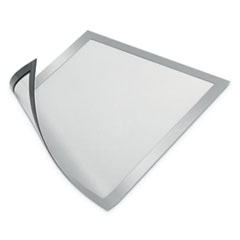 "DURAFRAME Magnetic Sign Holder, 8 1/2"" x 11"", Silver Frame, 2/Pack"