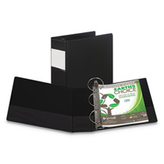"Earth's Choice Biobased Round Ring Reference Binder, 4"" Capacity, 11 x 8 1/2"