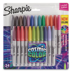 Cosmic Color Permanent Markers, Medium Bullet Tip, Assorted Colors, 24/Pack