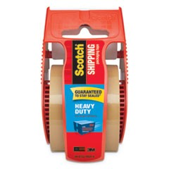 "3850 Heavy-Duty Packaging Tape with Dispenser, 1.5"" Core, 1.88"" x 66.66 ft, Tan"