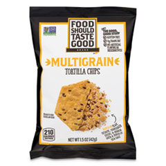 Food Should Taste Good Tortilla Chips, Multigrain With Sea Salt, 1.5 Oz, 24/Carton