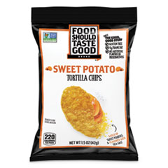Food Should Taste Good Tortilla Chips, Sweet Potato With Sea Salt, 1.5 Oz, 24/Carton