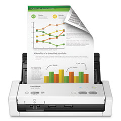 Brotherads1250W Wireless Compact Color Desktop Scanner With Duplex