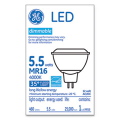 LED MR16 GU5.3 Dimmable Warm White Flood Light, 4000K, 6 W