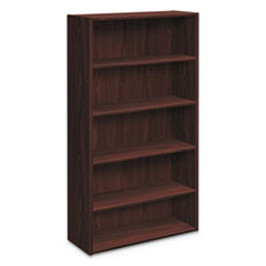 Foundation Bookcases, 32.06w x 13.81d x 65.38h, Mahogany