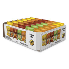 Baked Variety Pack, BBQ/Crunchy/Cheddar & Sour Cream/Classic/Sour Cream & Onion, 30/Box