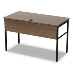 Linea Italia Urban Desk Workstation, 47.25W X 23.75D X 29.5H, Natural Walnut