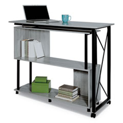 Mood Standing Height Desk, 53.25w x 21.75d x 42.25h, Gray
