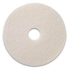 "Polishing Pads, 13"" Diameter, White, 5/CT"
