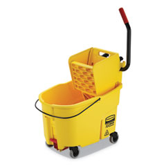 WaveBrake 2.0 Bucket/Wringer Combos, Side-Press, 44 qt, Plastic, Yellow
