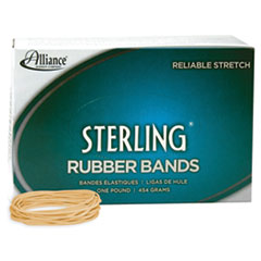 "Sterling Rubber Bands, Size 19, 0.03"" Gauge, Crepe, 1 lb Box, 1,700/Box"