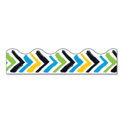 "Terrific Trimmers Print Board Trim, 2 1/4"" x 41"", Bold Strokes Chevron, Assorted"