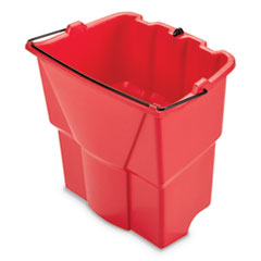 WaveBrake 2.0 Dirty Water Bucket, 18 qt, Plastic, Red