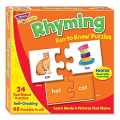 Trend Fun To Know Puzzles, Ages 3 To 9, 24 2-Sided Puzzles
