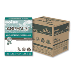 ASPEN Multi-Use Recycled Paper, 92 Bright, 20lb, 8.5 x 11, White, 500 Sheets/Ream, 5 Reams/Carton