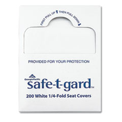 "Seat Covers Safe-T-Gard, 17"" x 14.5"" White, 25/Carton"